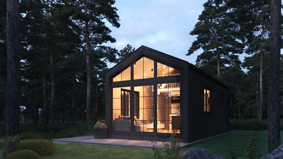 færdigbygget annekser til sommerhuset fra www.solundliving.dk